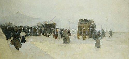 Luigi Loir: Reisende auf dem Place de la Concorde.