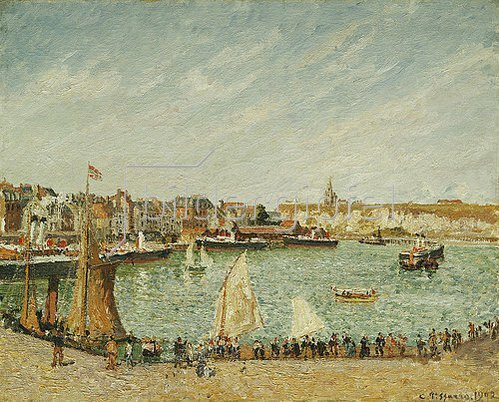 Camille Pissarro: Nachmittagsonne am Hafen von Dieppe. 1902