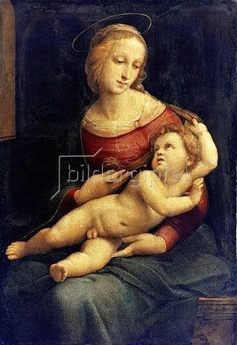 Raffael (Raffaello Sanzio): Madonna mit liegendem Kind auf dem Schoß. (sogen. Bridgewater Madonna) Um 1507/08