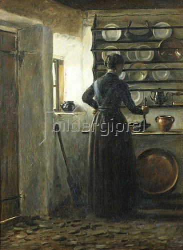 Peter Ilsted: In der Küche.