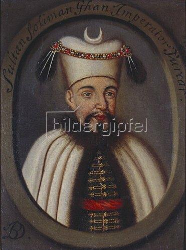 Italienisch: Porträt von Ottoman Sultan, Suleiman.