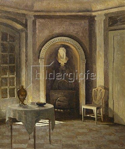 Peter Ilsted: Der Kamin im Speiseraum, Liselund. 1917