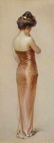 Gaston Bouy: Im roten Kleid.