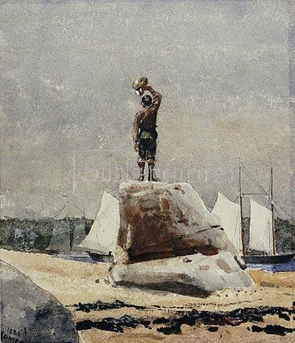 Winslow Homer: Ein Junge winkt den Schonern. 1880
