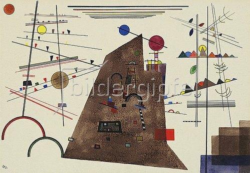 Wassily Kandinsky: Schweres zwischen Leichtem. 1924