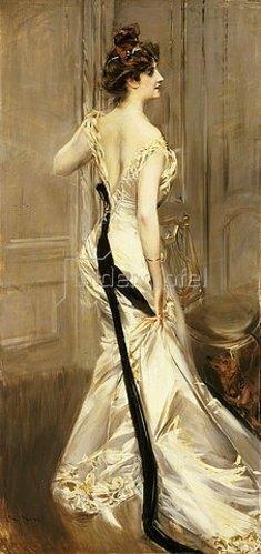 Giovanni Boldini: Das schwarze Band. Um 1905