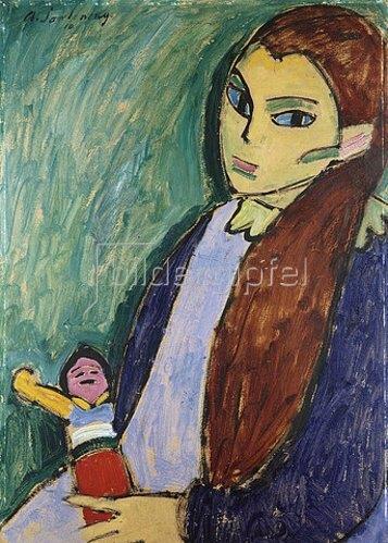 Alexej von Jawlensky: Mädchen mit Puppe. 1910
