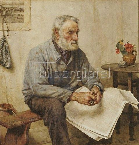 Walter Langley: Die Zeitungslektüre.