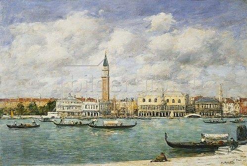 Eugène Boudin: Venedig, Blick auf San Marco und den Campanile. Juni 1895