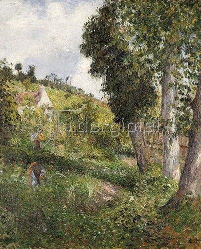 Camille Pissarro: Landschaft mit Gemüsefeld bei Pontoise. Um 1878