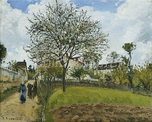 Camille Pissarro: Landschaft in Louveciennes. 1870