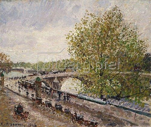 Camille Pissarro: Pont Royal an einem Frühlingsnachmittag. 1903