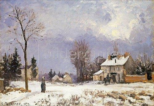 Camille Pissarro: Die Straße von Versailles nach Saint-Germain, Louveciennes. 1872