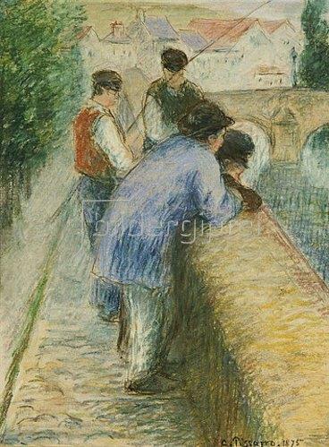 Camille Pissarro: Angler. 1875