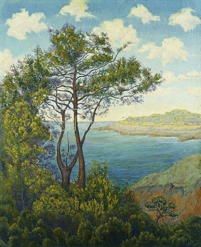 Paul Ranson: Bretonische Küste (Bord de mer en Bretagne). Um 1898