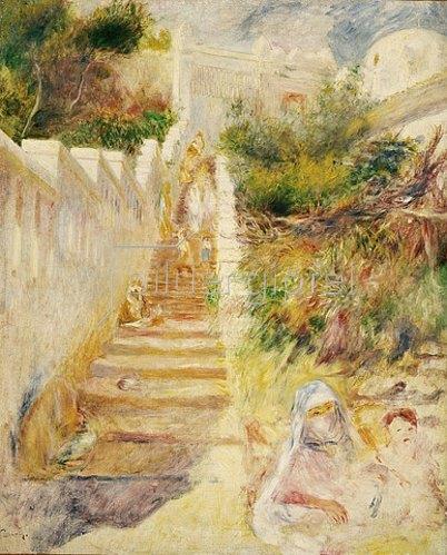 Auguste Renoir: Treppe in Algiers (L'Escalier, Algiers). Um 1882