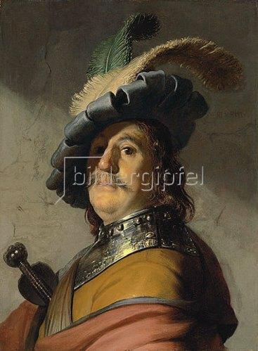 Rembrandt van Rijn: Ein Mann mit Ringkragen und Kappe.