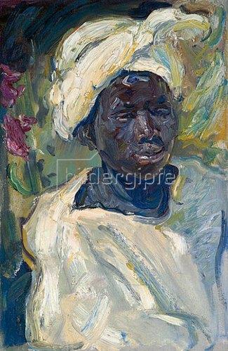 Max Slevogt: Der afrikanische Junge Mursi. 1914