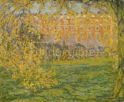 Henri Le Sidaner: Hampton Court im Herbst (Automne, Hampton Court). 1908