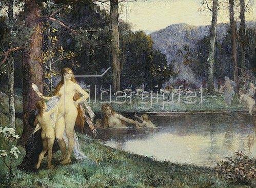 Jacques Fernand Hymbert: Diana im Bade. 1886