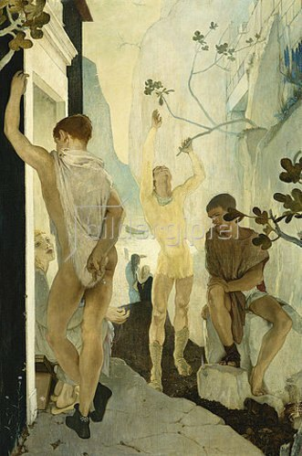 Glyn Warren Philpot: Penelope (umrundet von Freiern, auf Odysseus' Rückkehr wartend).