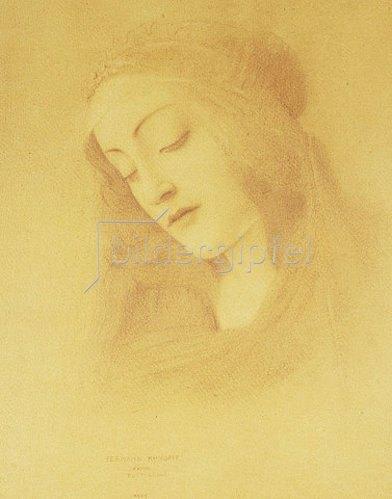 Fernand Khnopff: Die Heilige Jungfrau nach Botticelli (La Vierge d'Après Botticelli). 1909