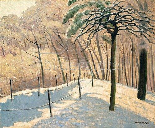 Felix Vallotton: Schneelandschaft im Bois den Boulogne. 1925