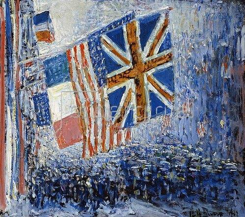 Frederick Childe Hassam: The Big Parade. 1917