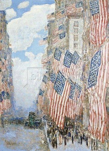Frederick Childe Hassam: Der 4. Juli 1916.