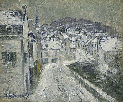 Gustave Loiseau: Schnee in Pont-Aven (Neige à Pont-Aven). 1922
