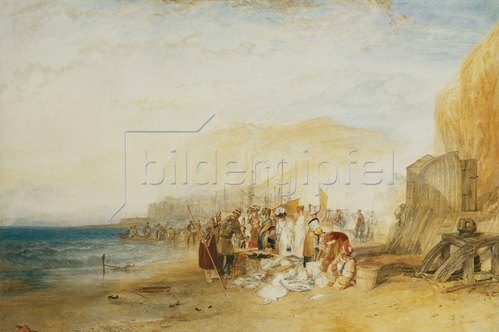 Joseph Mallord William Turner: Hastings: Frühmorgendlicher Fischmarkt am Strand. 1822