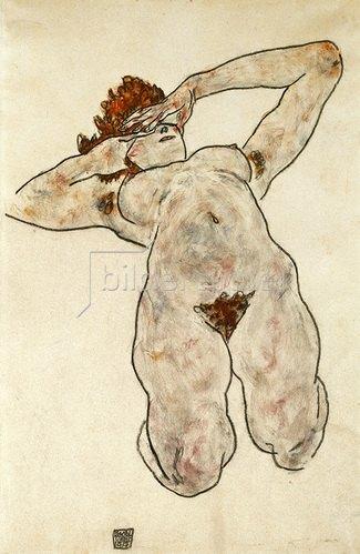Egon Schiele: Liegende Nackte. 1917