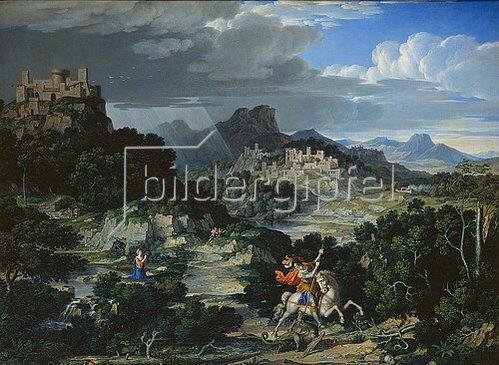 Joseph Anton Koch: Landschaft mit dem hl. Georg. 1807