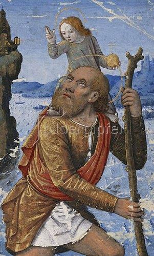 Jean Bourdichon: Heiliger Christophorus. Um 1490-1500