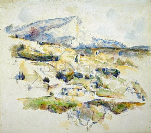 Paul Cézanne: Der Mont Saint Victoire von Lauves aus gesehen (La Montagne Sainte Victoire Vue des Lauves). Um 1902-06