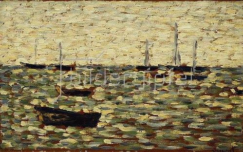 Georges Seurat: Das Meer bei Grandcamp (La Mer a Grandcamp). Um 1885