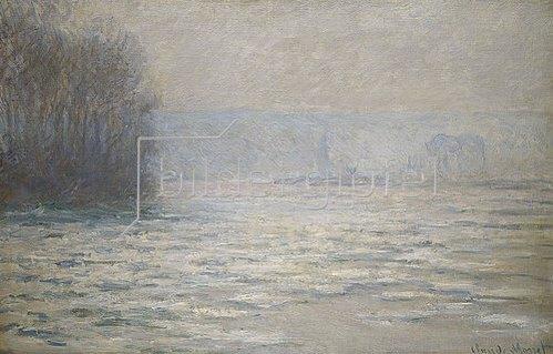 Claude Monet: Seinehochwasser bei Bennecourt. 1893