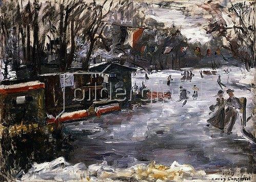 Lovis Corinth: Eisbahn im Berliner Tiergarten. 1909