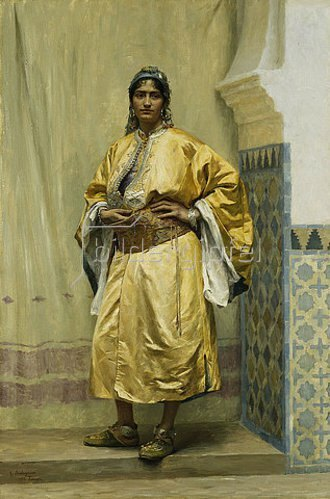Georges Bretegnier: Eine Odaliske. 1889