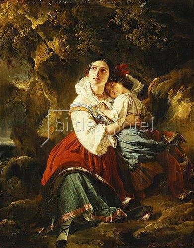 Franz Xaver Winterhalter: Ein Sturm zieht auf. 1834