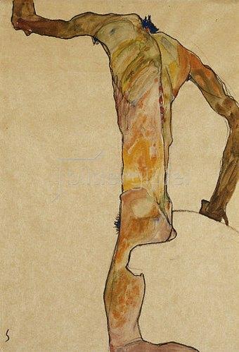 Egon Schiele: Männlicher Akt. 1910