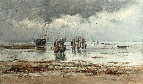 Emile-Louis Vernier: Muschelfischer.