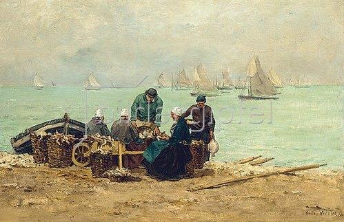 Emile-Louis Vernier: Fischer bei Isigny. 1881