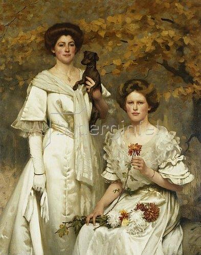 Thomas Cooper Gotch: Hilda und Margaret, Töchter des Professor Sir Edward Poulton. Um 1905