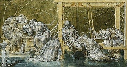 Sir Edward Burne-Jones: Studie für 'The Garden Court'.