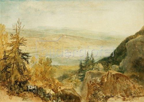 Joseph Mallord William Turner: Farnley Hall von über Otley aus gesehen.