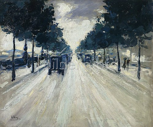 Lesser Ury: Straße in London. 1926
