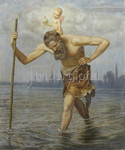 Hans Thoma: Der hl. Christophorus. 1916