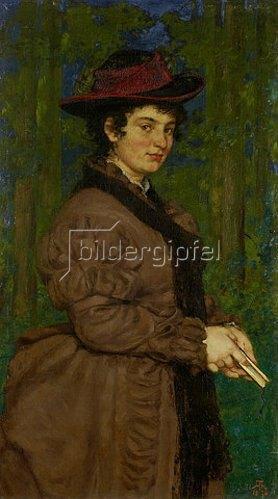 Hans Thoma: Bildnis Cella Thoma (Frau des Malers Hans Thoma). 1876
