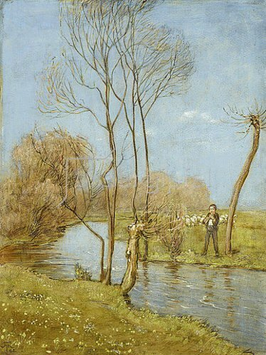 Hans Thoma: An der Würm. 1885